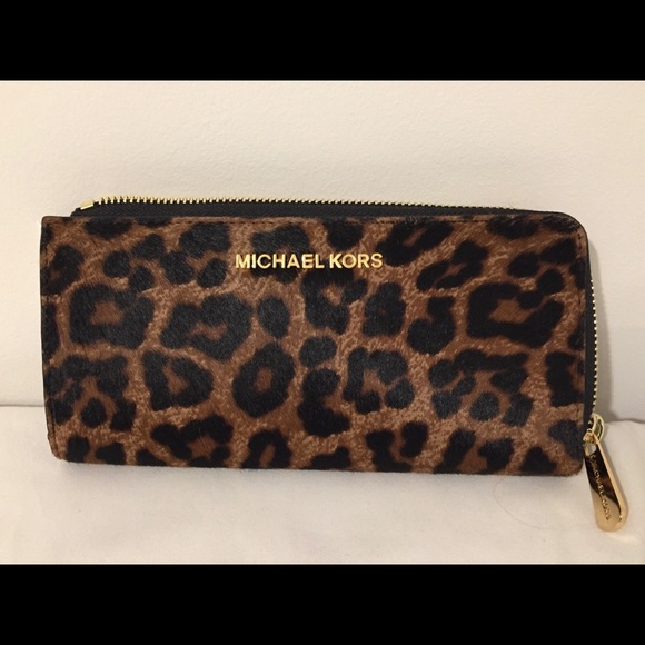 74ad96f553a5 MICHAEL Michael Kors Bags | Michael Kors Calf Hairleather Zip Wallet ...